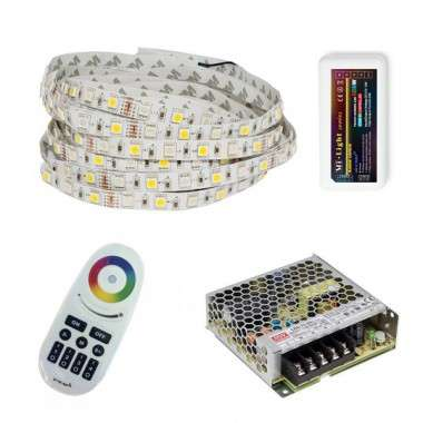 Pack ruban LED RGB+W - Tactile - Fils - 10m