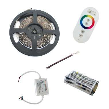 Pack ruban LED RGB - Tactile - Prise - 10m